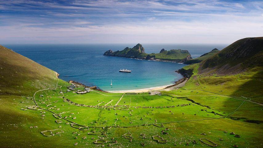 「ヒルタ島の入り江」イギリス, スコットランド