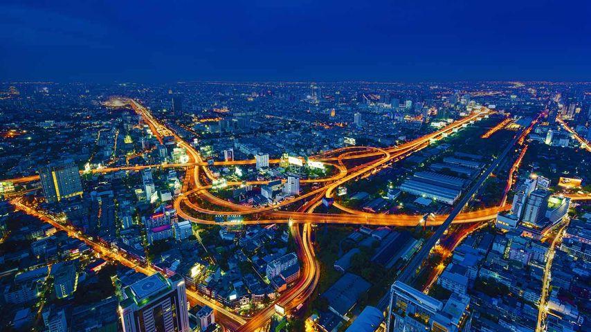 「バンコクの高速道路」タイ