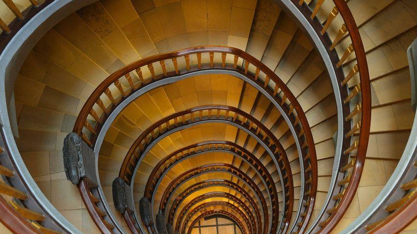 「チリハウスの螺旋階段」ドイツ, ハンブルク