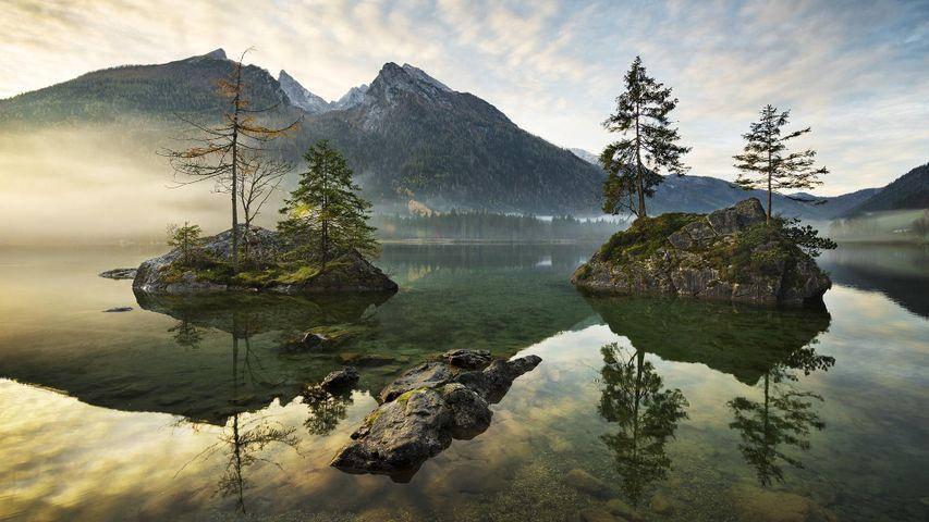 「ベルヒテスガーデン国立公園のヒンター湖」ドイツ, バイエルン州