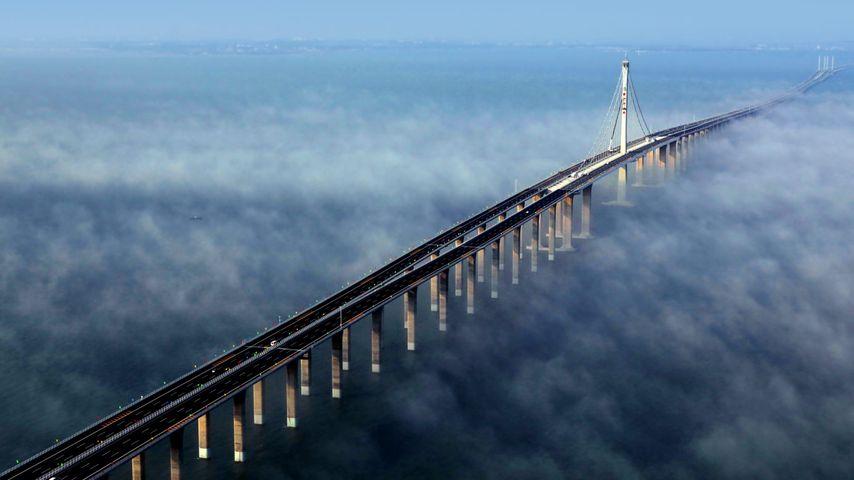 「青島膠州湾大橋」中国, 山東省