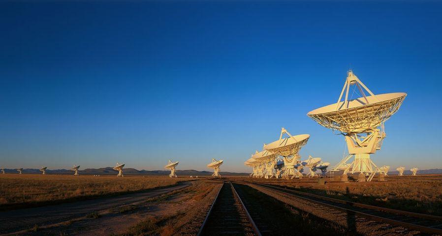 「超大型干渉電波望遠鏡群」アメリカ, ニューメキシコ州, ソコロ郡