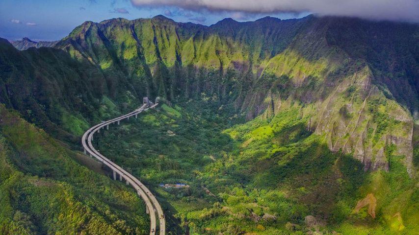 「州間高速道路ハワイ3号線」ハワイ, オアフ島
