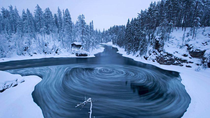 「オウランカ国立公園の渦巻」フィンランド, クーサモ