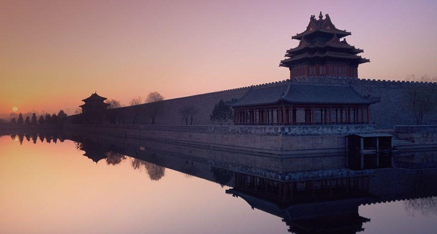 「朝焼けの紫禁城」中国, 北京