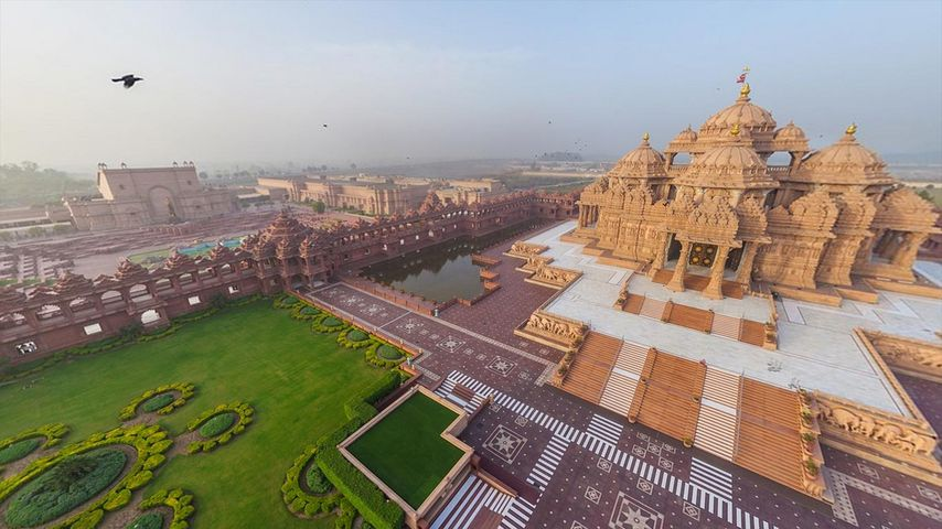 「アクシャルダム寺院」インド, デリー