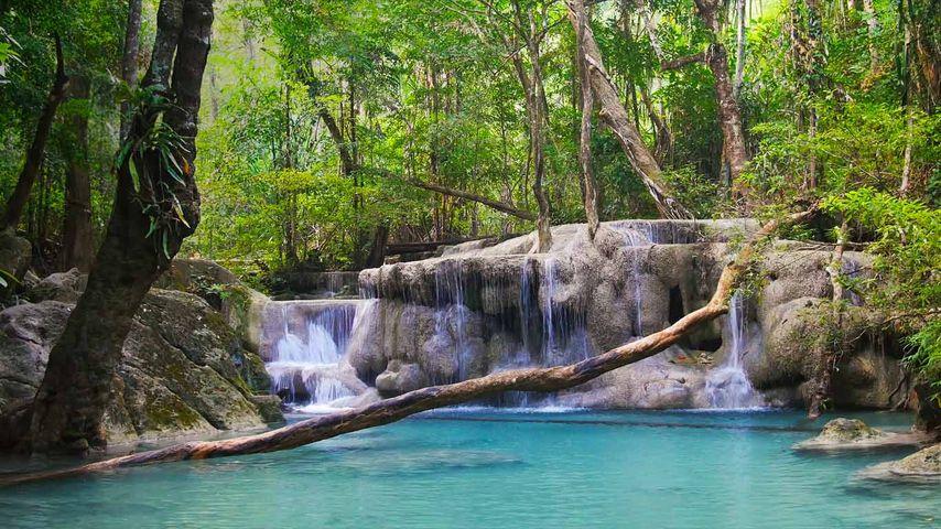 「エラワン滝」タイ, カーンチャナブリー県