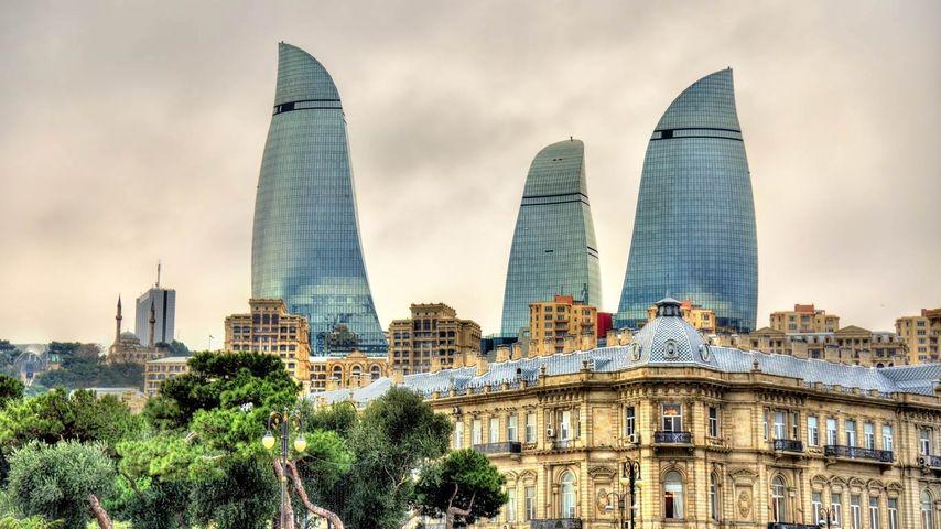 「フレイムタワー」アゼルバイジャン, バクー