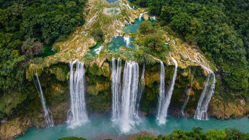 「タムル滝」メキシコ, サン・ルイス・ポトシ州