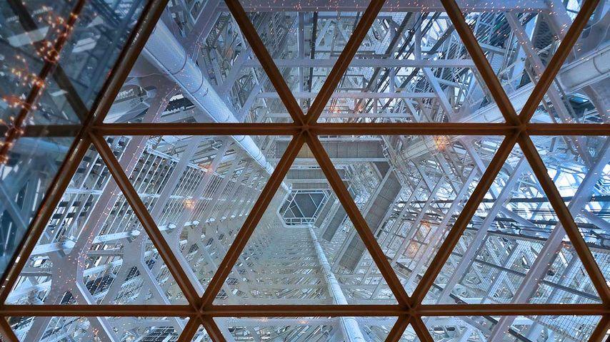 「福岡タワーの内部」福岡, 市早良区