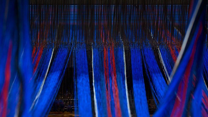 「タータン織機」イギリス, スコットランド
