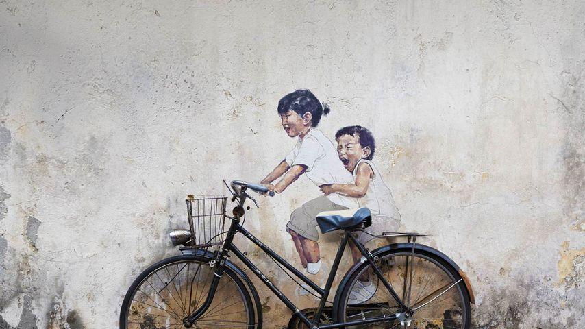 「ジョージタウンのストリートアート」マレーシア, ペナン島
