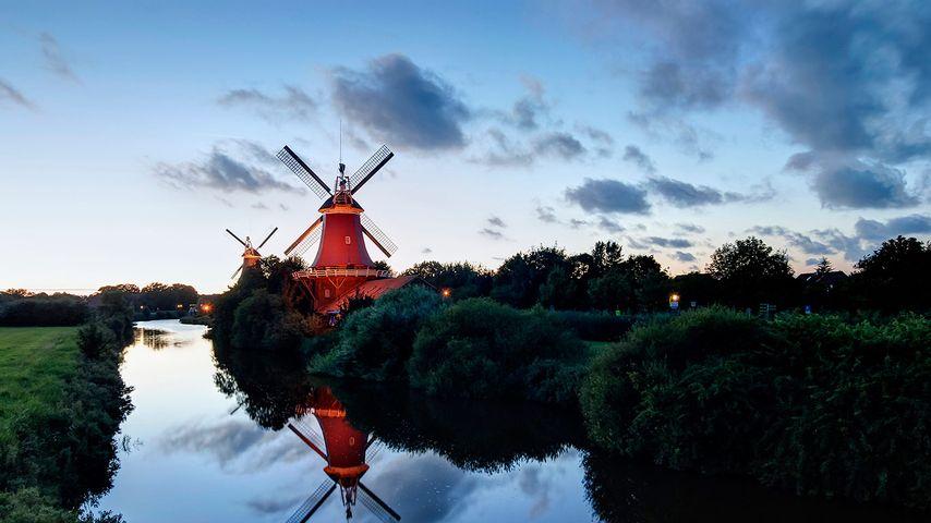「グリートジールの双子風車」ドイツ, ニーダーザクセン州