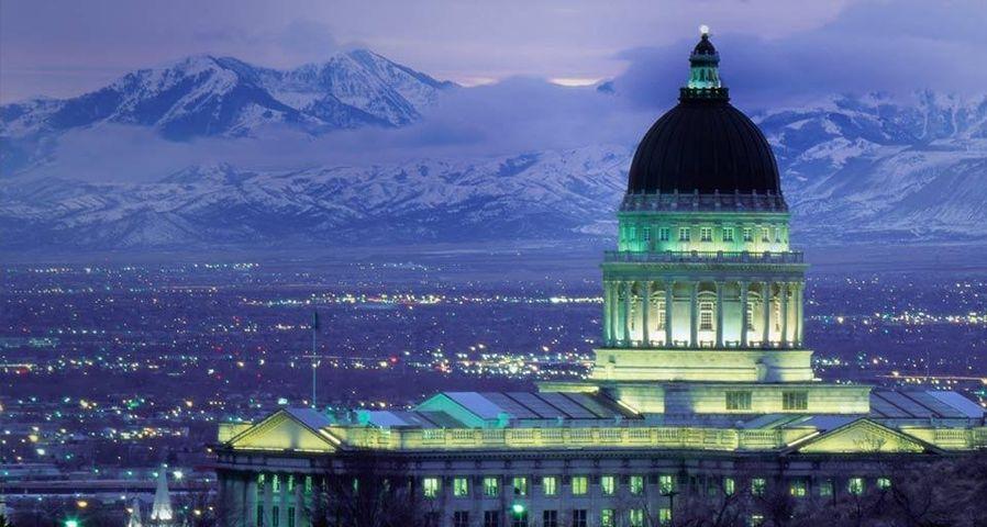 「ユタ州会議事堂」アメリカ, ユタ州, ソルトレイクシティ