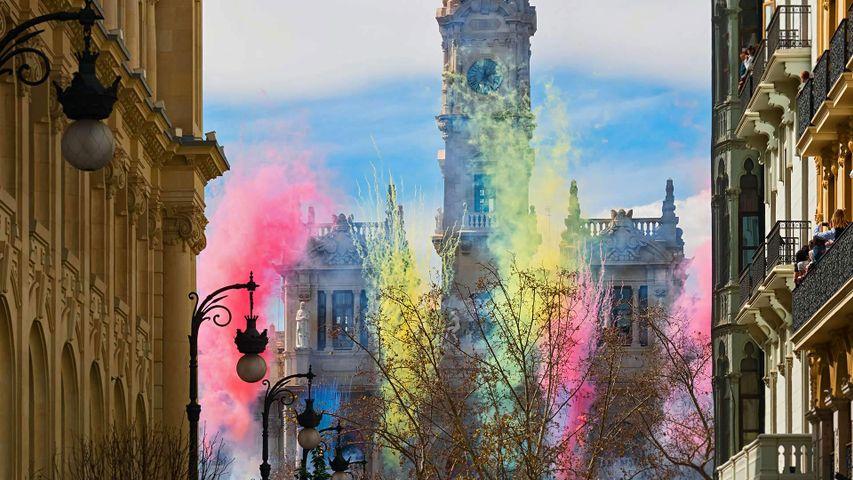 「バレンシアの火祭り」スペイン, アユンタミエント広場