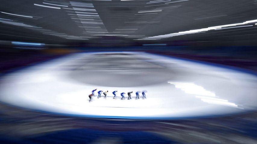 「スピードスケートのトレーニング」韓国, 江陵オーバル
