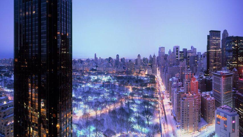 「セントラルパークの夜景」アメリカ, ニューヨーク