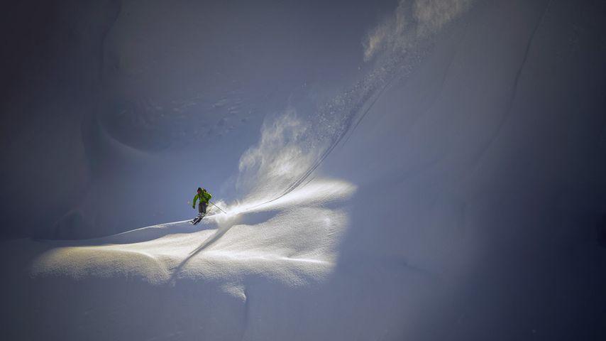 「バックカントリー・スキーヤー」アメリカ, ワシントン州