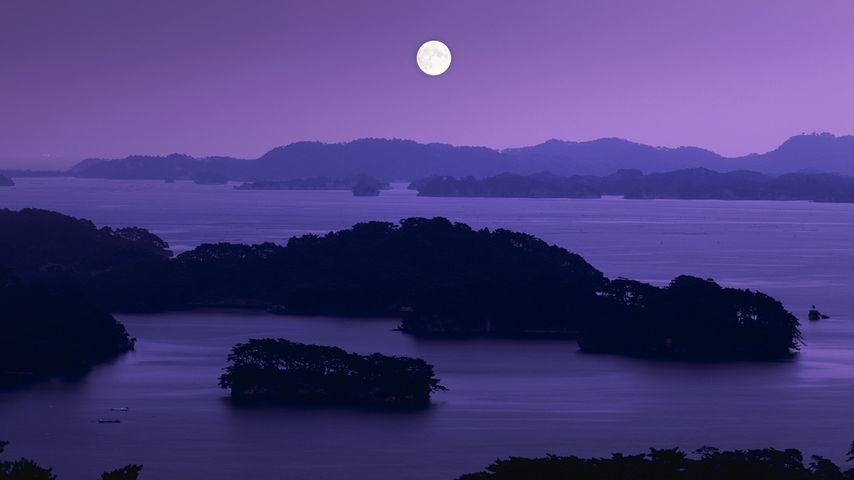 「松島と満月」宮城, 仙台