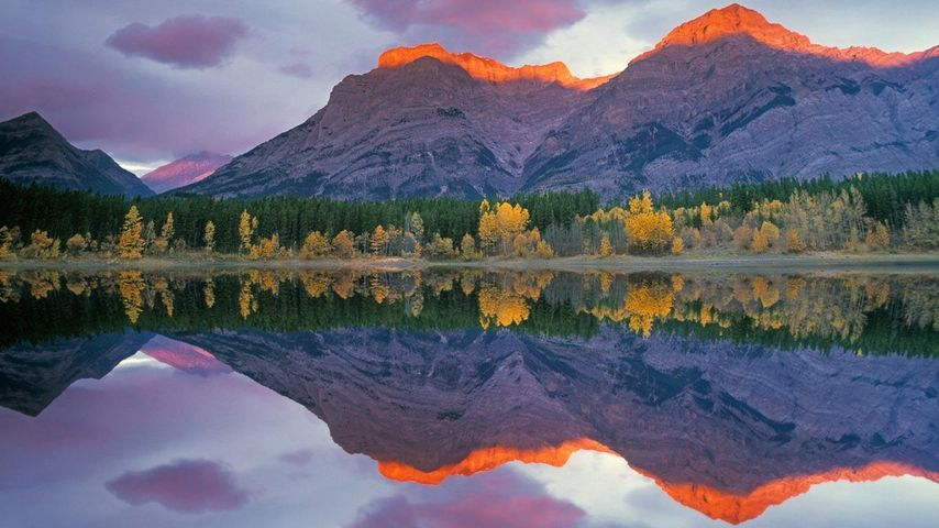 「ピーター・ローヒード州立公園」カナダ, アルバータ州