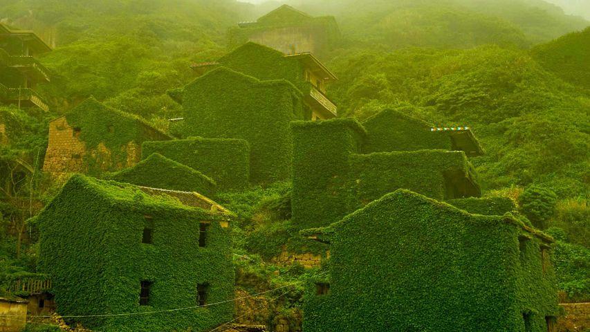 「嵊山島の廃漁村」中国, 浙江省