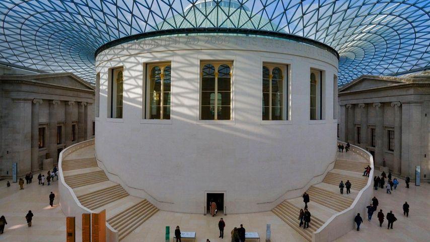 「大英博物館グレートコート」イギリス. ロンドン