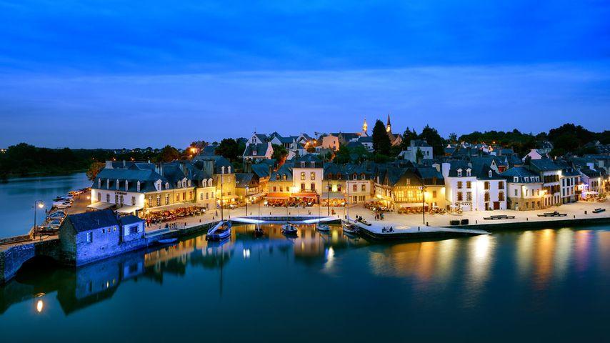 「オーレーの夕暮れ」フランス, ブルターニュ地域圏