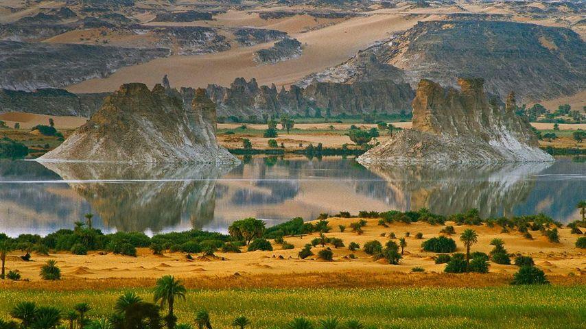 「ウニャンガ・セリール湖」チャド共和国