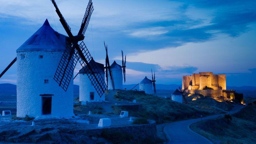 「コンスエグラの風車」スペイン, カスティーリャ・ラ・マンチャ州