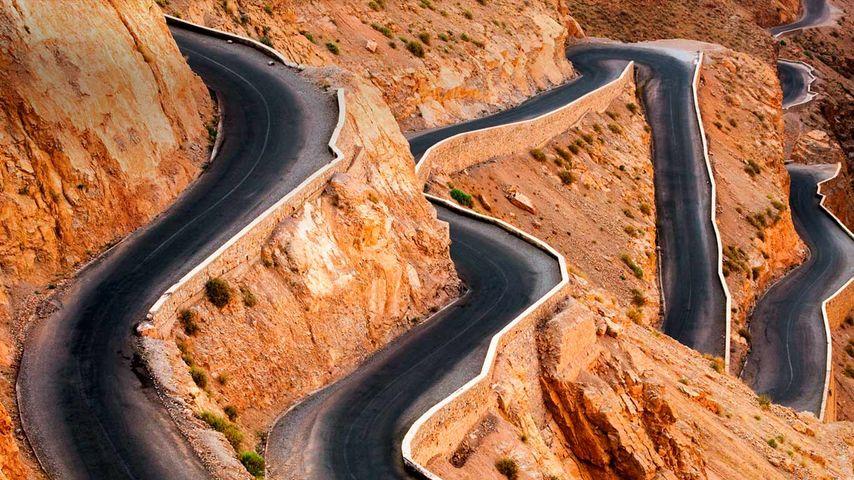 「ダデス渓谷」モロッコ, アトラス山脈