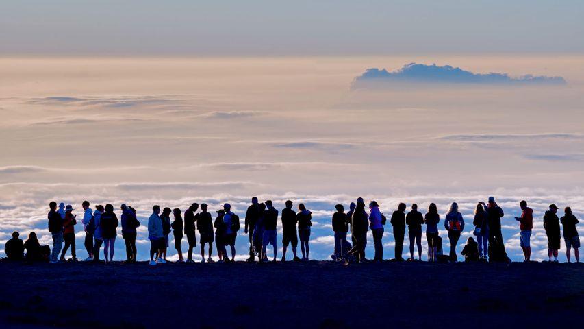 「ハレアカラクレーターからの眺望」ハワイ, ハレアカラ国立公園