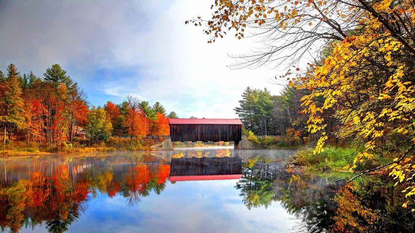 「ハンコック・グリーンフィールド橋」米国ニューハンプシャー州