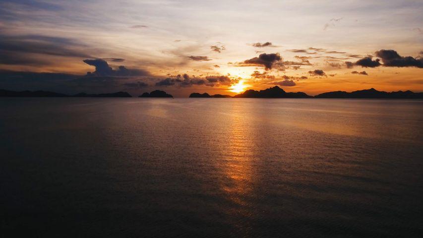 「エルニドから見たバキット湾」フィリピン, パラワン島