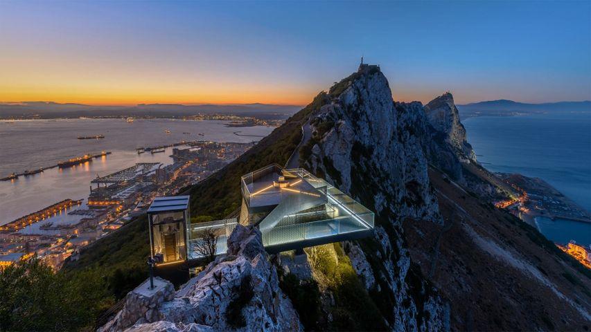 「ジブラルタルの岩の空中回廊」イギリス領, イベリア半島