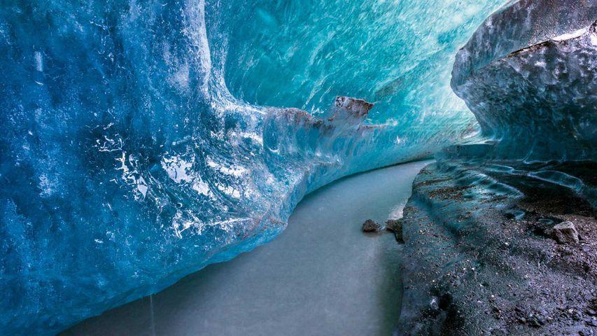 「氷河洞窟」米国アラスカ州, マタヌスカ氷河