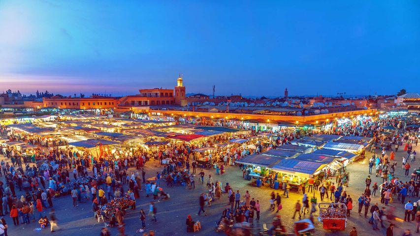 「ジャマ・エル・フナ広場」モロッコ, マラケシュ