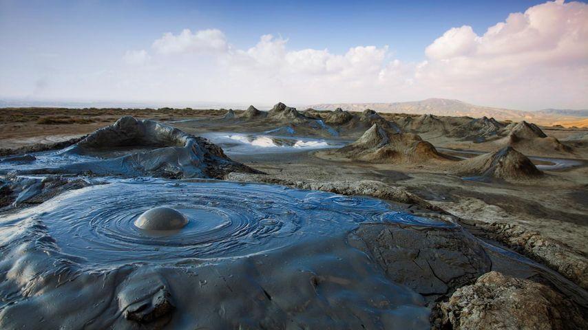 「コブスタン国立保護区の泥火山」アゼルバイジャン