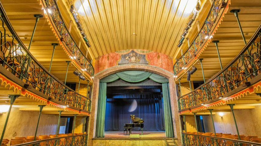 「オウロ・プレット市立劇場」ブラジル, ミナス・ジェライス州