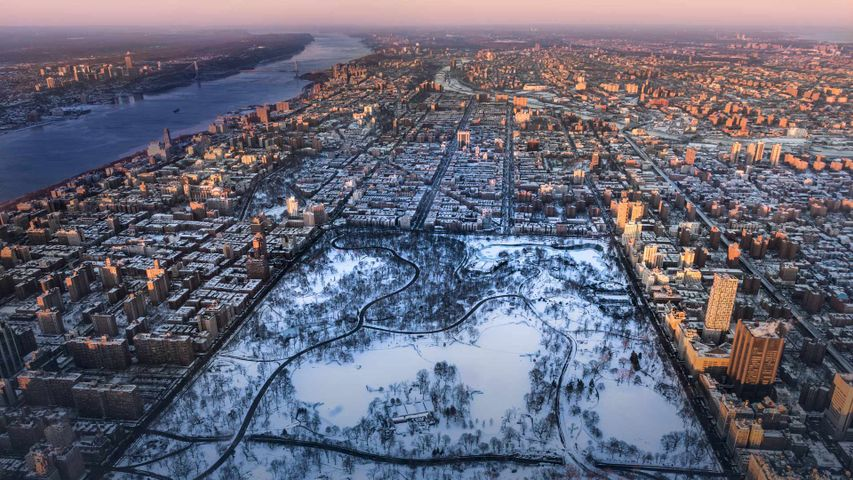「冬のセントラル・パーク」アメリカ, ニューヨーク市