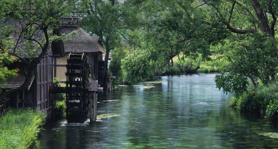 「蓼川の水車小屋」長野, 安曇野