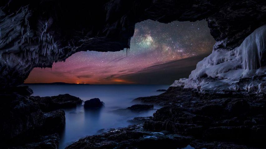 「バー・ハーバーの天の川」アメリカ、メイン州