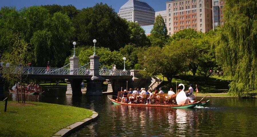「ボストン・パブリック・ガーデン」アメリカ, マサチューセッツ州, ボストン