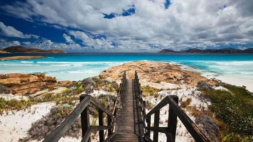「ラッキー・ベイ」西オーストラリア, ケープ・レ・グランド国立公園