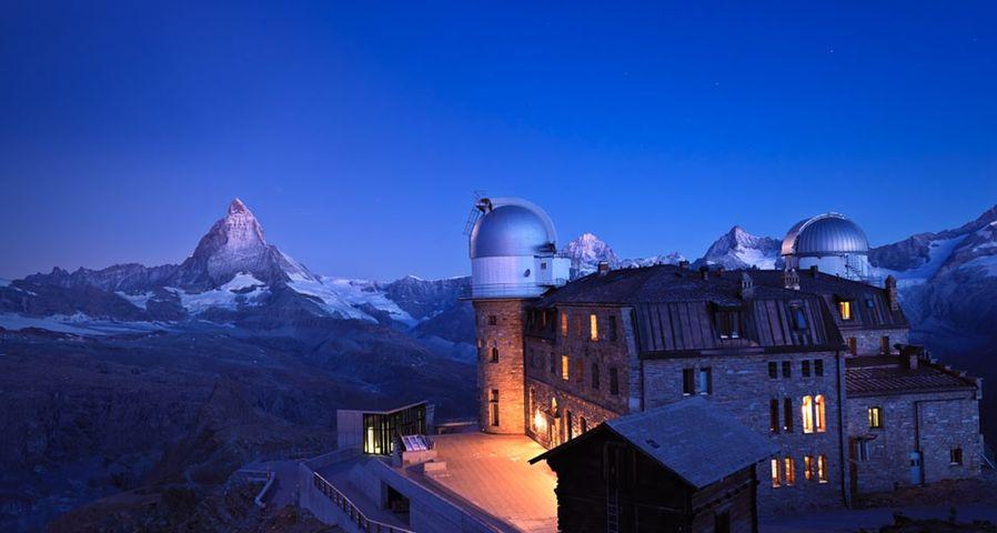 「マッターホルンとクルムホテル」スイス, ゴルナーグラート