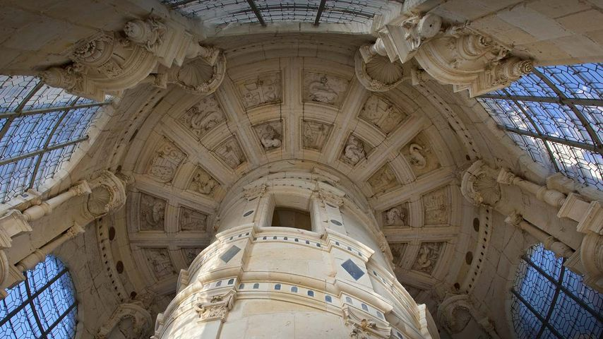 「二重らせん階段」フランス, ロワール・エ・シェール県