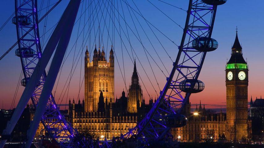「ロンドン・アイとビッグ・ベン」イギリス, ロンドン