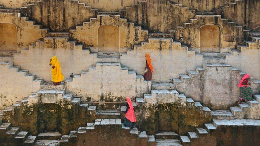「ジャイプルの階段井戸」インド, ラージャスターン州