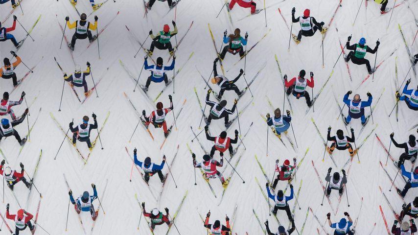 「エンガディン・スキーマラソン」スイス, サン・モリッツ