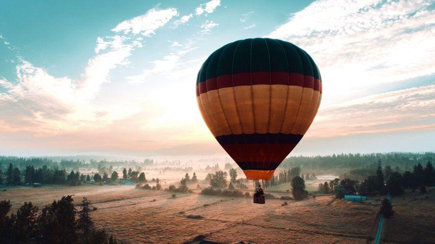 「熱気球」米国ワシントン州, オーバーン