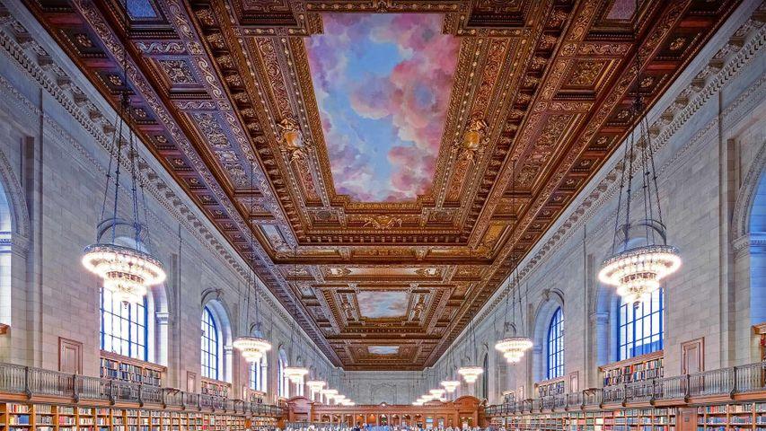 「ニューヨーク公共図書館ローズルーム」米国, ニューヨーク市